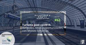 Carátura AEA 62 sobre el libro Turismo post covid19. Reflexión, retos y oportunidades