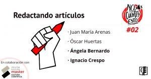 Caratula Escribiendo sobre ciencia en medios de comunicación con Angela Bernardo e Ignacio Crespo